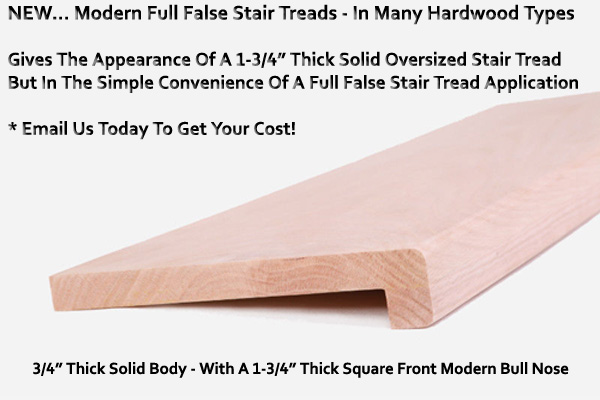 Stair Parts Canada For Full False Stair Treads In Many Wood Types