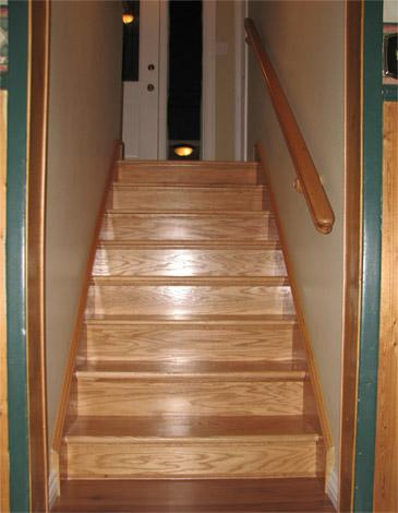 Stair Treads With No Ends Openu0027 *** The Stair Treads Have No Installed  Miter Returns.