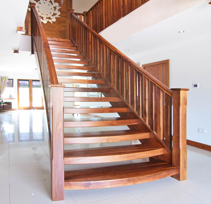 Open Staircase Design In Many Hardwood Types