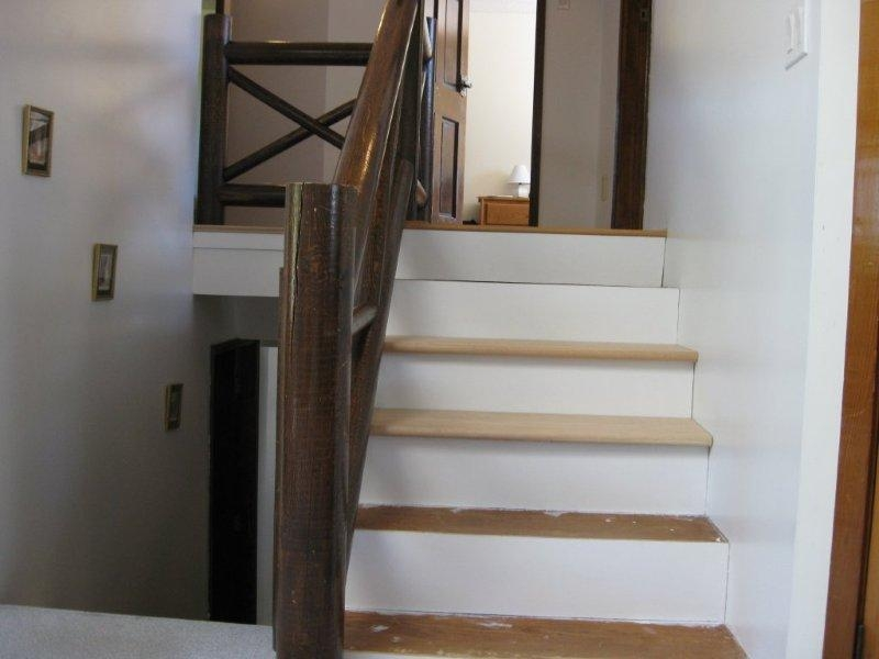 Oak Full False Treads & Oak Craftsmen Rail system In Clear Coat Finish - Picture #2