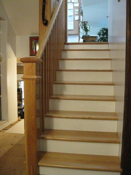 Oak Full False Treads & Oak Craftsmen Rail system In Clear Coat Finish - Picture #6