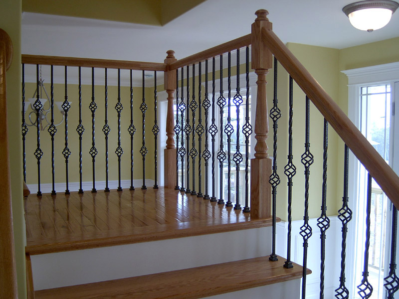 Metal Baskets Baluster & Traditional Mushroom Top Newels - Picture #5
