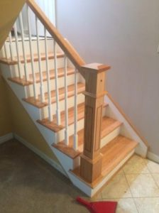 raised panel newel post with cap and neck